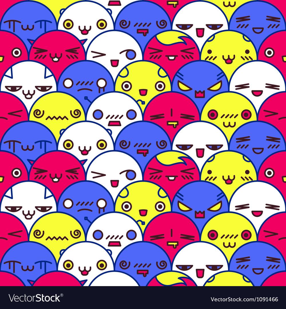 Cute cartoon pattern Eps8 vector image