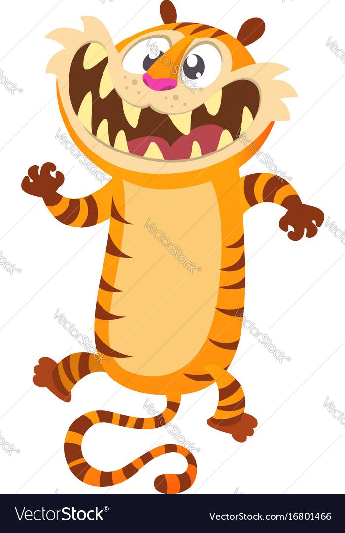 Cute cartoon tiger character