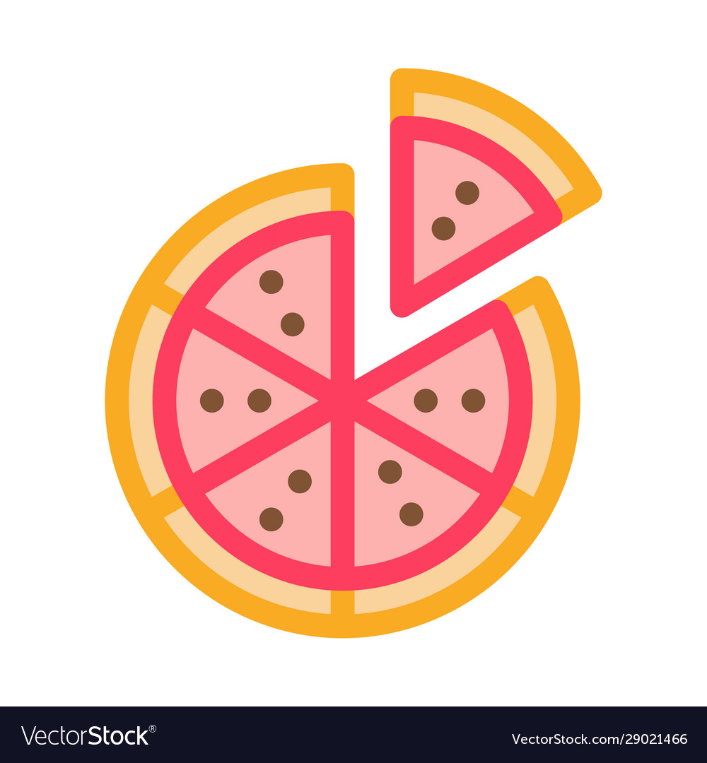Sliced pizza icon outline