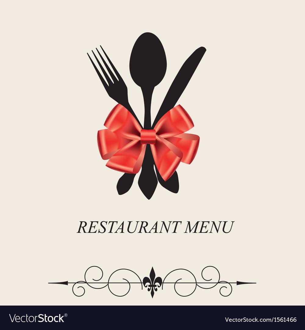 The concept of Restaurant menu vector image