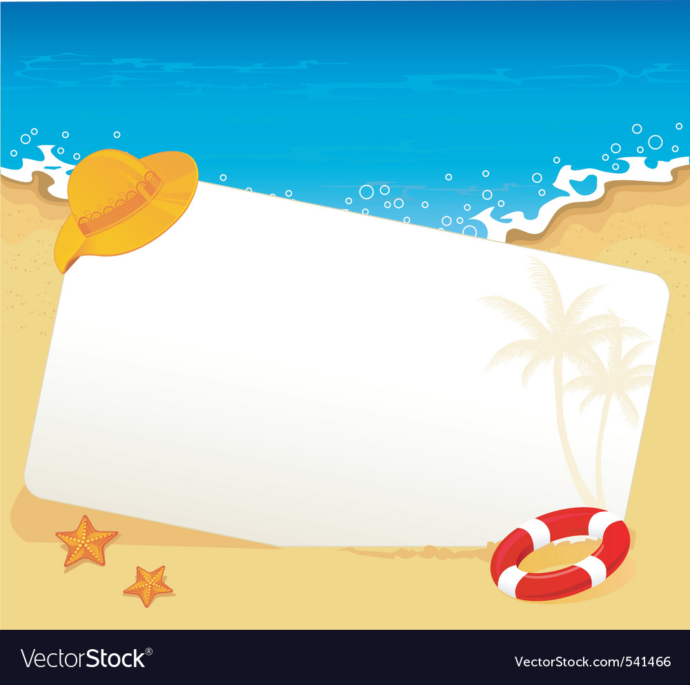 Tropic back vector image