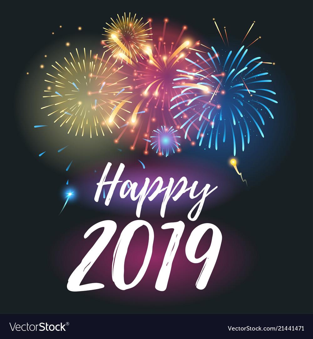 2019 year greeting card