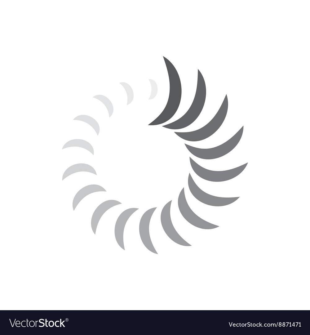Abstract geometric circle curves icon