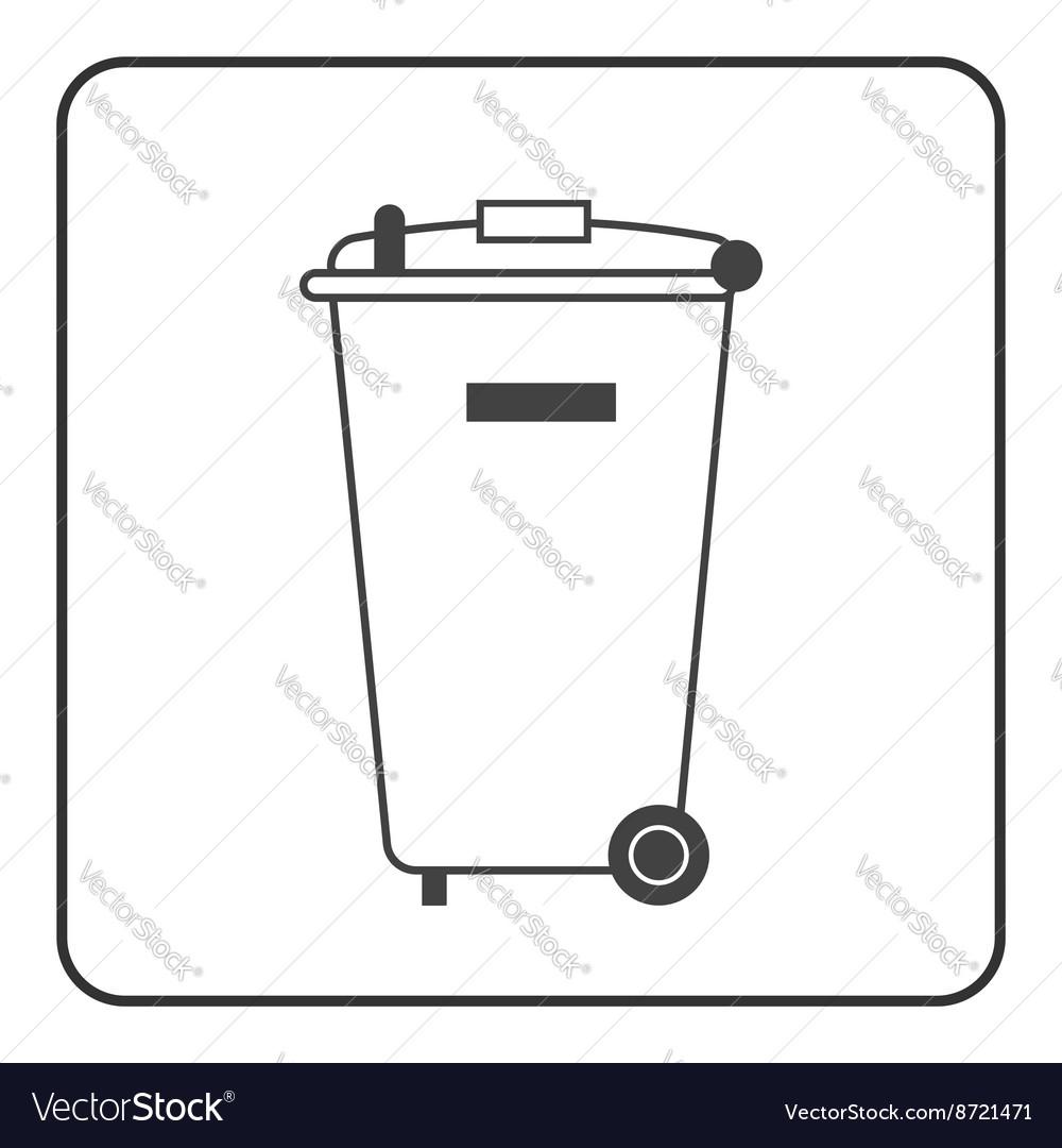 Big trash bin icon vector image