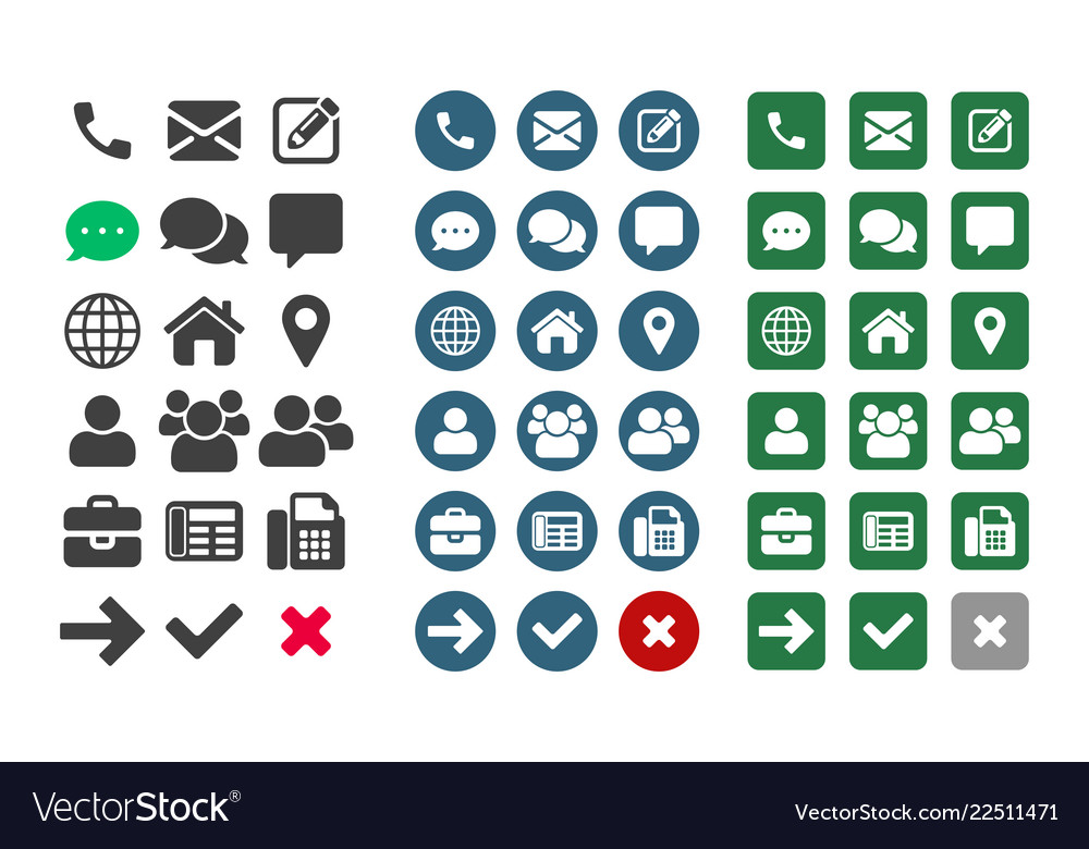 Contact ui app icons
