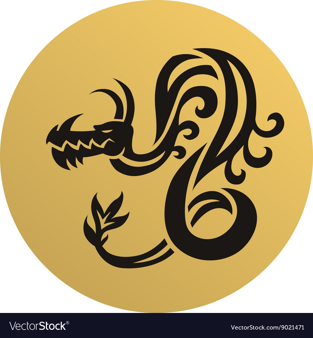 Dragon face vector image