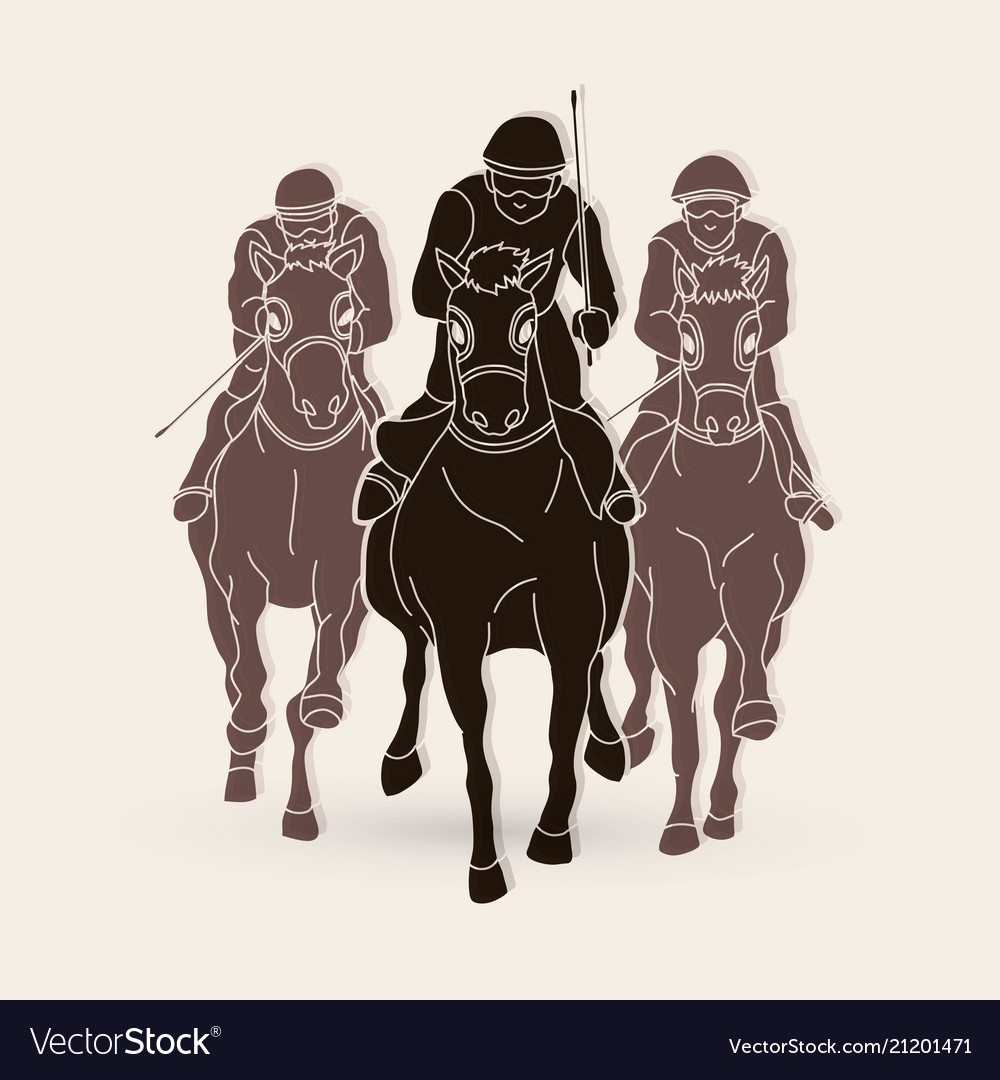 Jockey riding horse hose racing