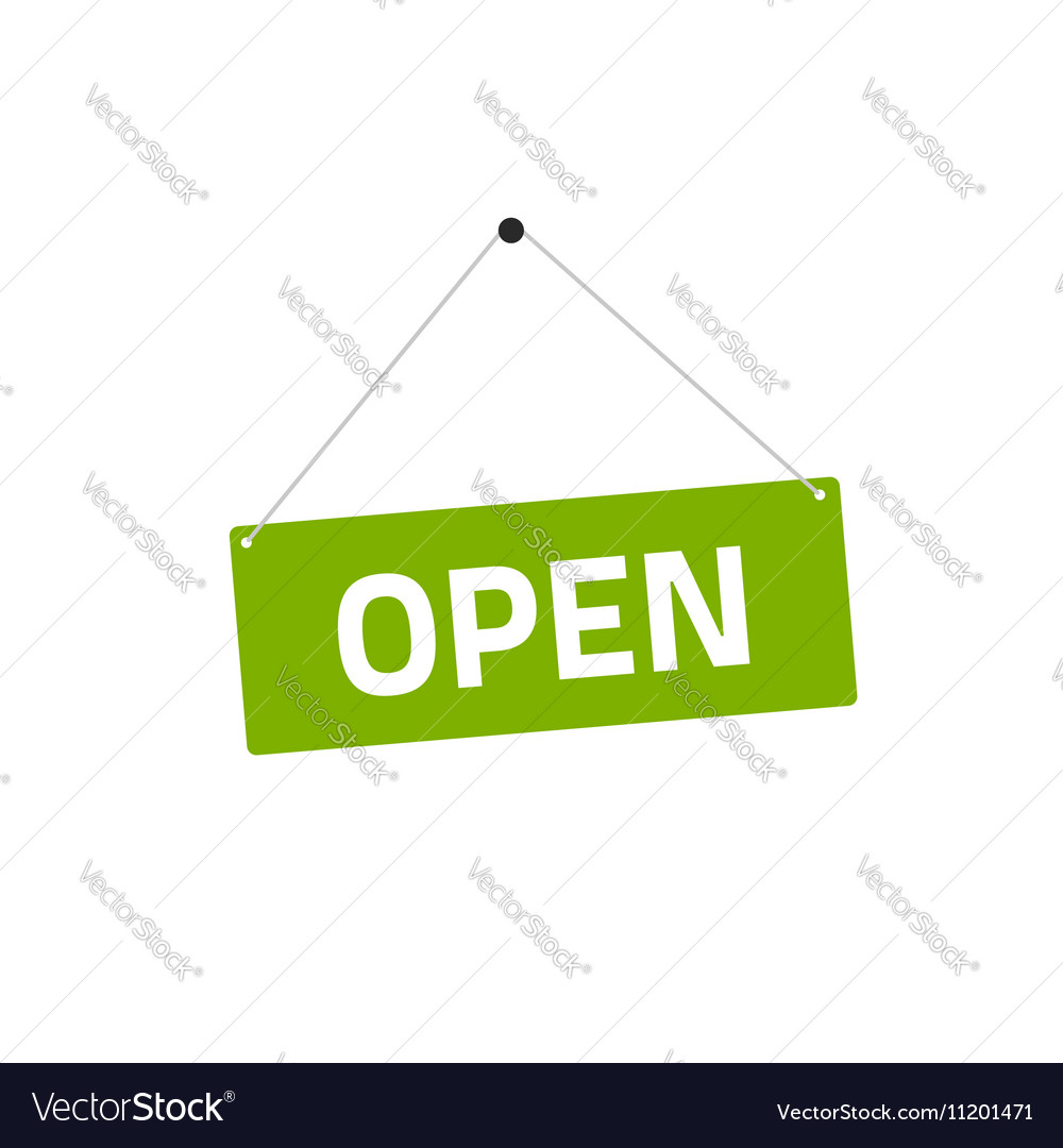 Open sing flat style vector image