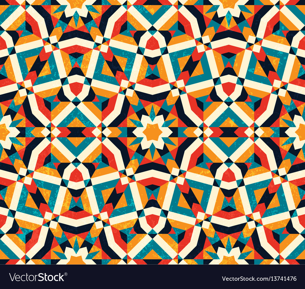 Abstract geometric background colorful seamless vector image