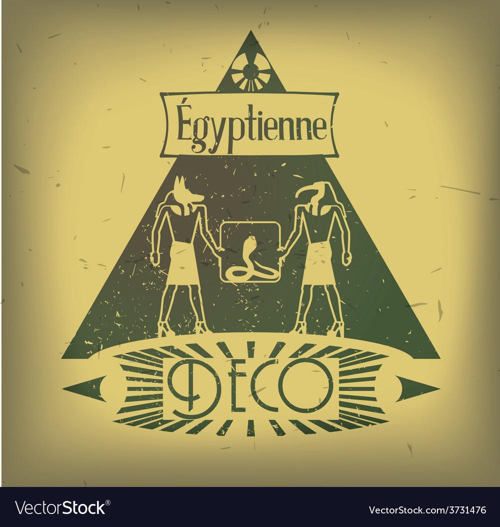 Art Deco Signage vector image