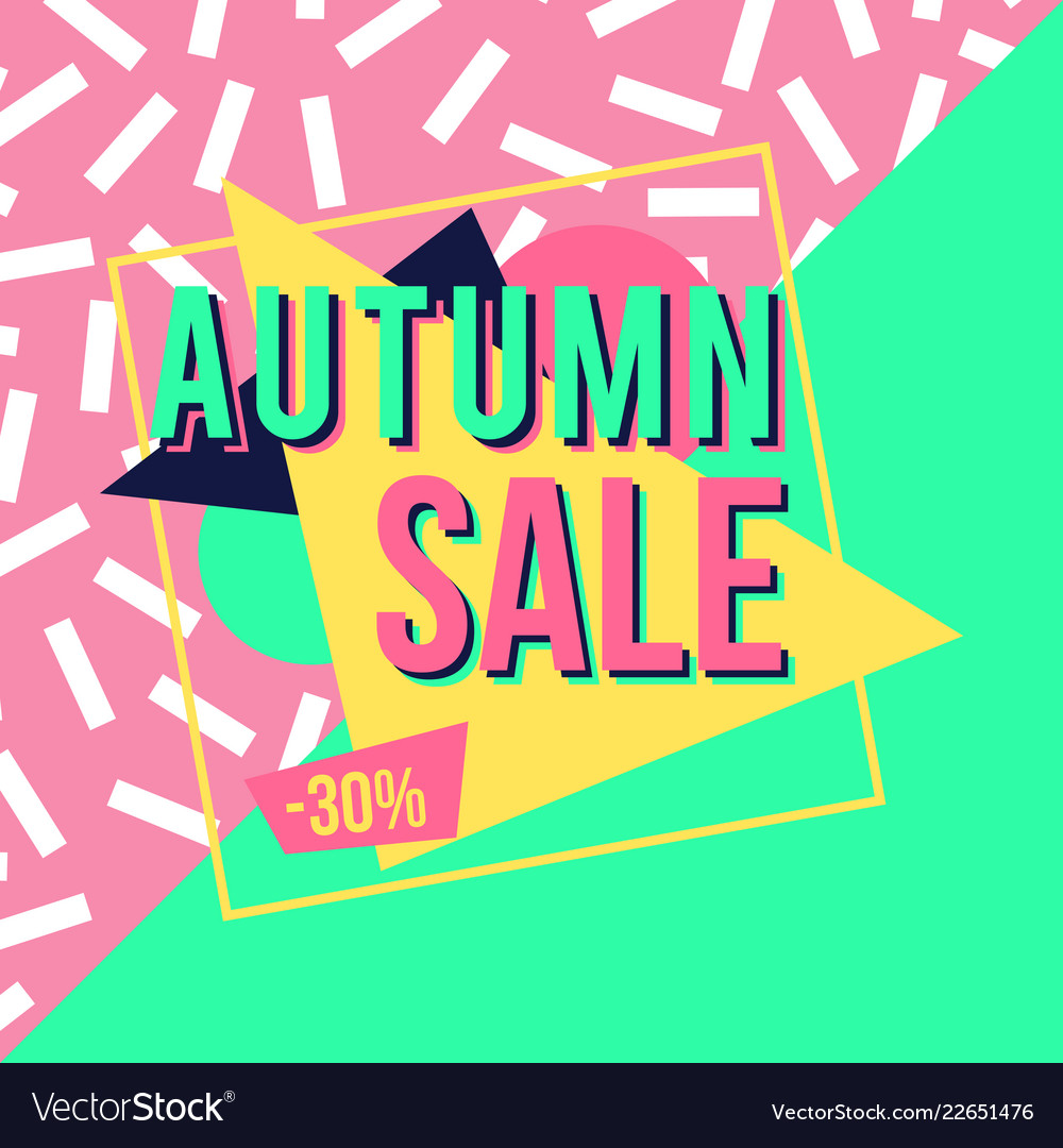 Autumn sale banner for online shopping with