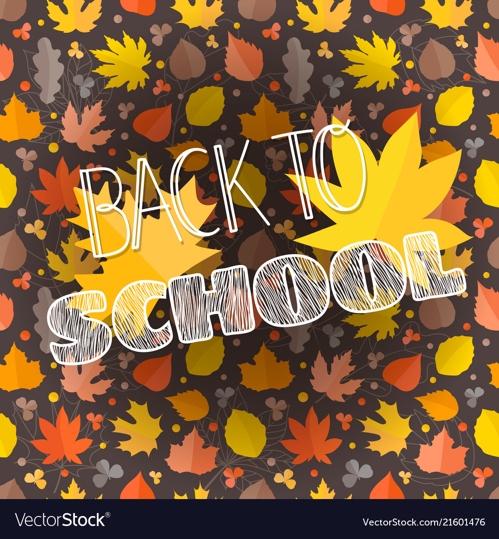 Back to school concept composition with autumn