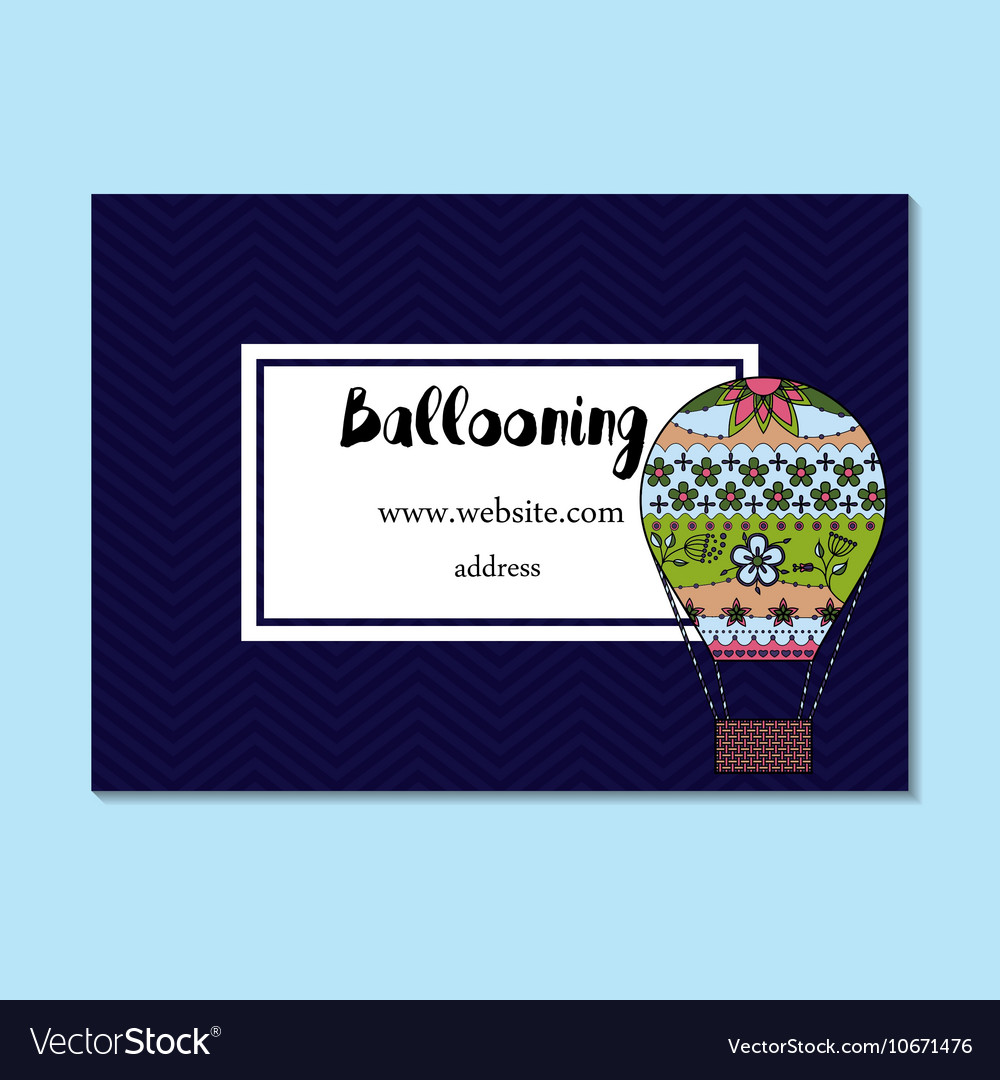 Business card for ballooning