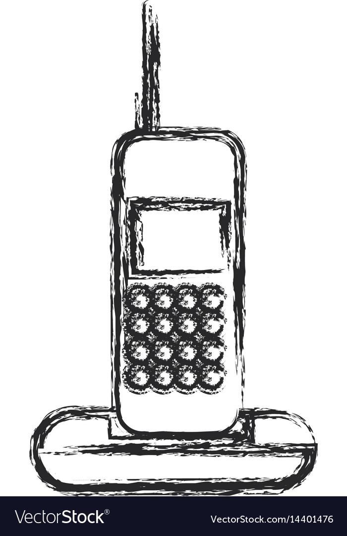 Cordless phone communication device sketch