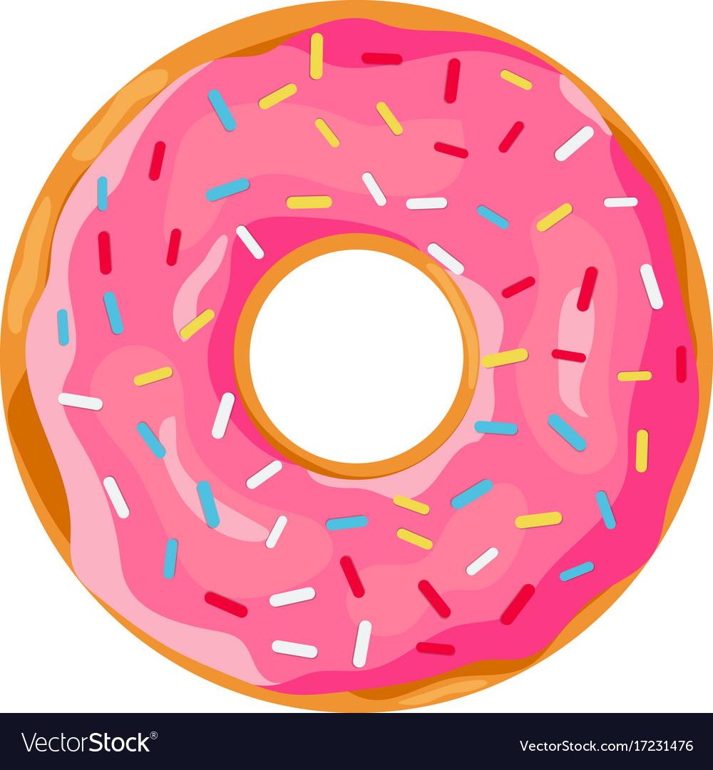 Donut with pink glaze