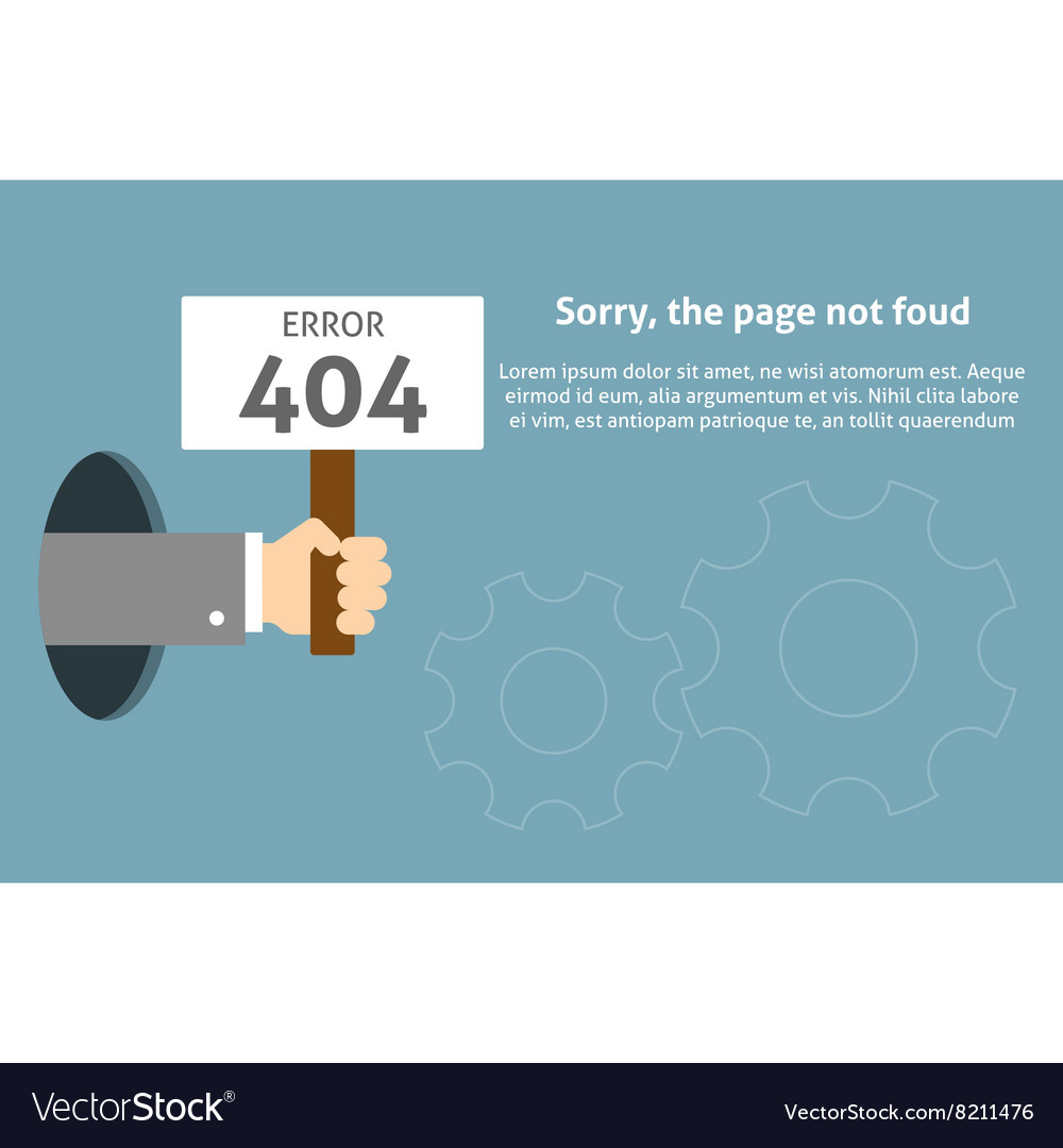 Hand holding sign with error message vector image