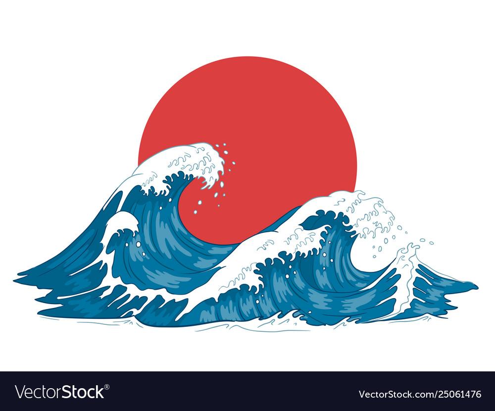 Japanese wave japanese big waves raging ocean