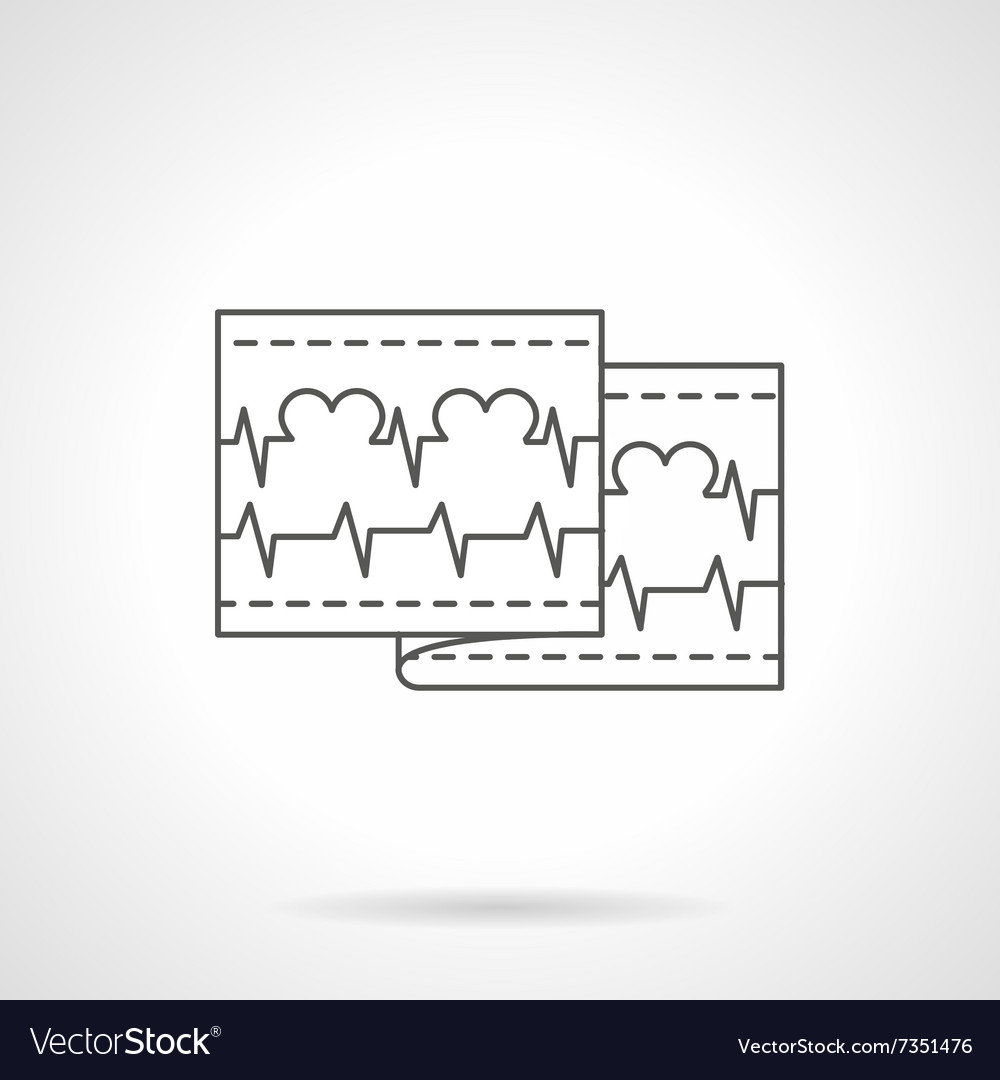 Love cardiogram flat line icon vector image