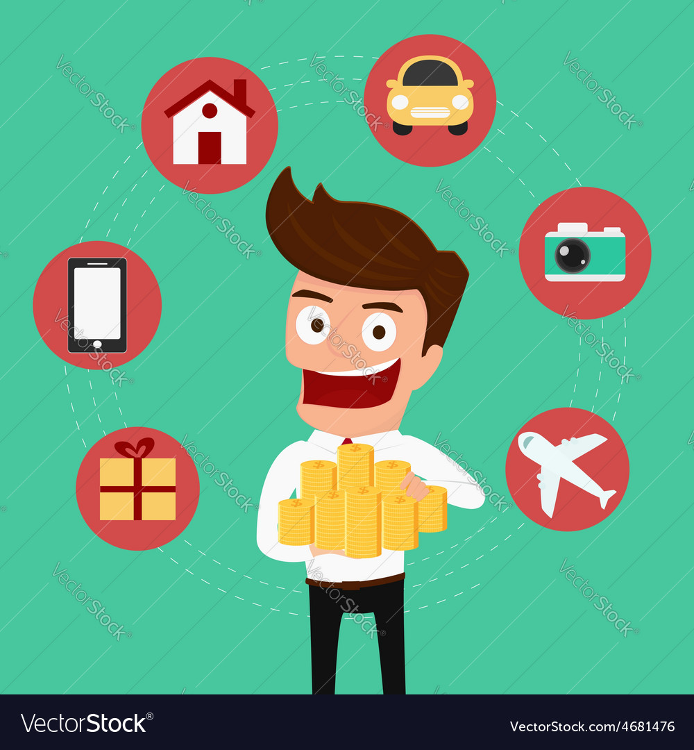 Money concept Businessman holding money