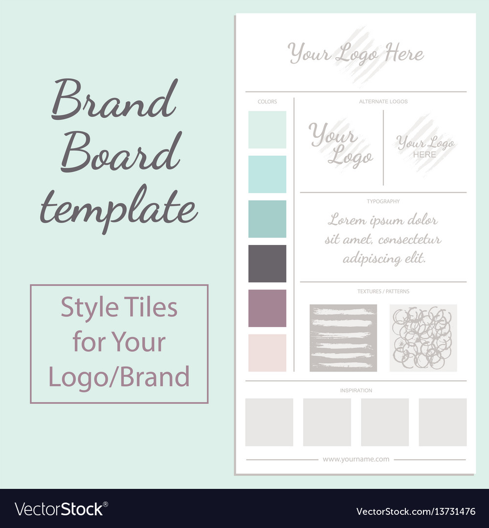 moodboard template isolated on white royalty free vector