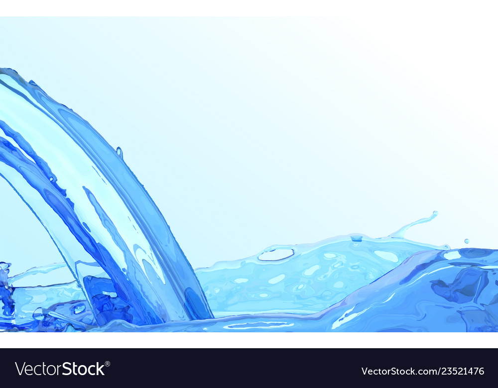 Realistic water stream clean wave water surface