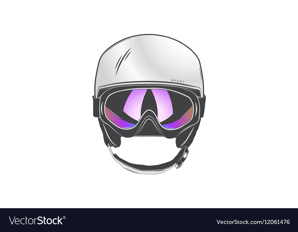 Sports helmet with goggles Protective helmets for