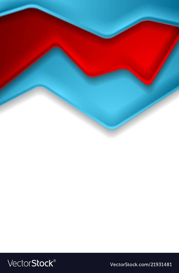 Abstract red and blue corporate contrast