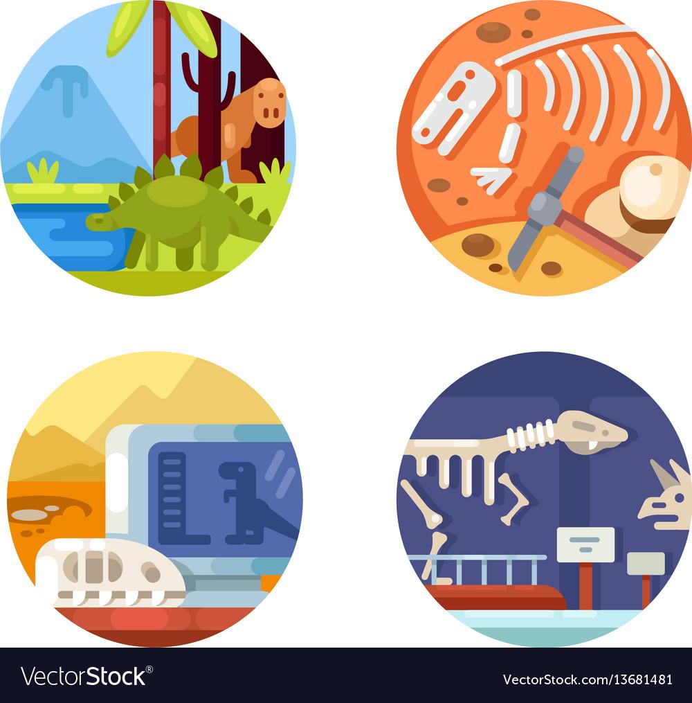 Archeology set icons