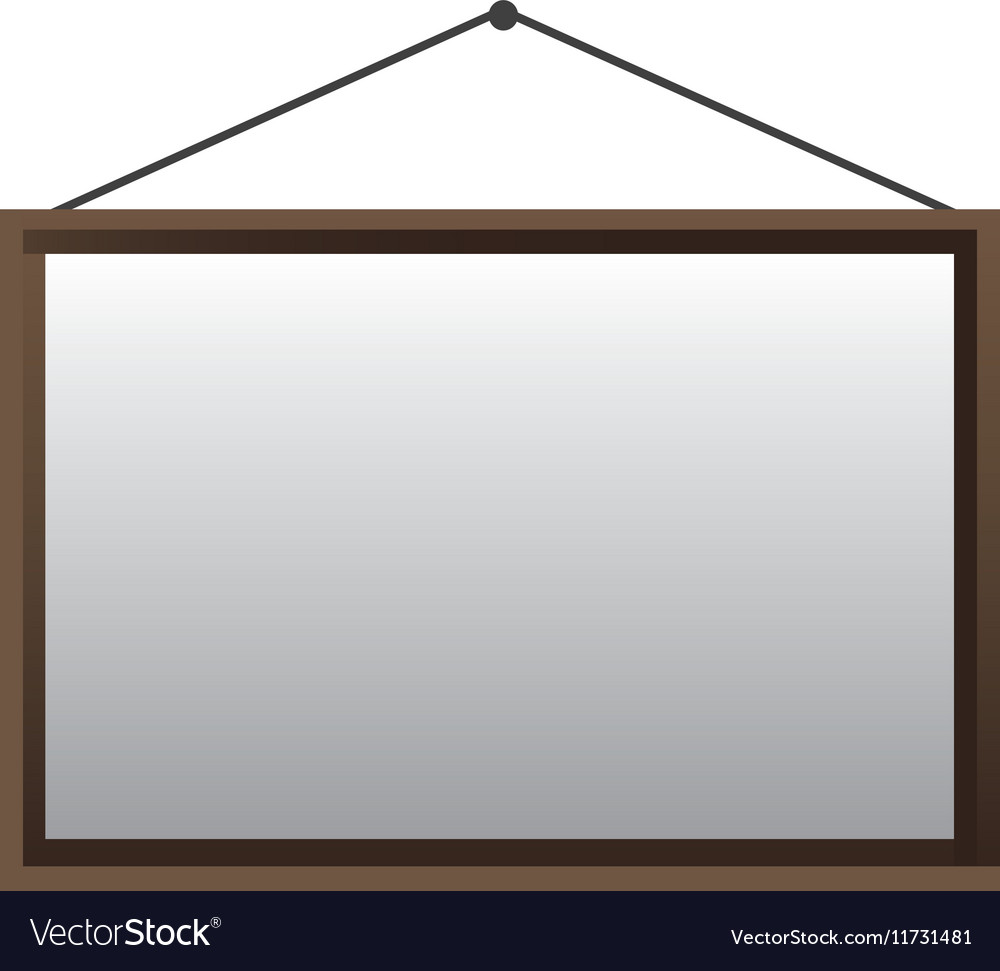 Blank hanging sign icon image vector image