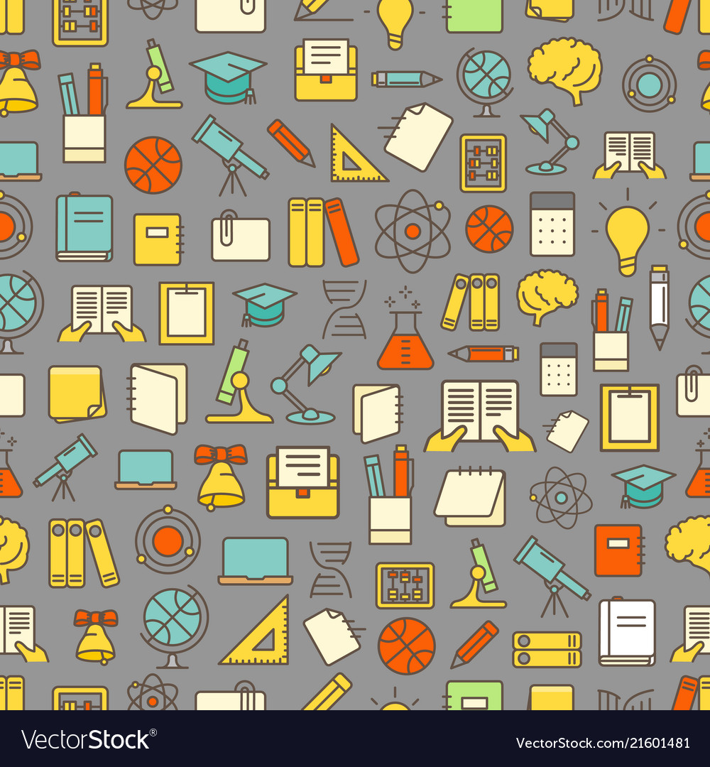 Different network app icons seamless pattern back