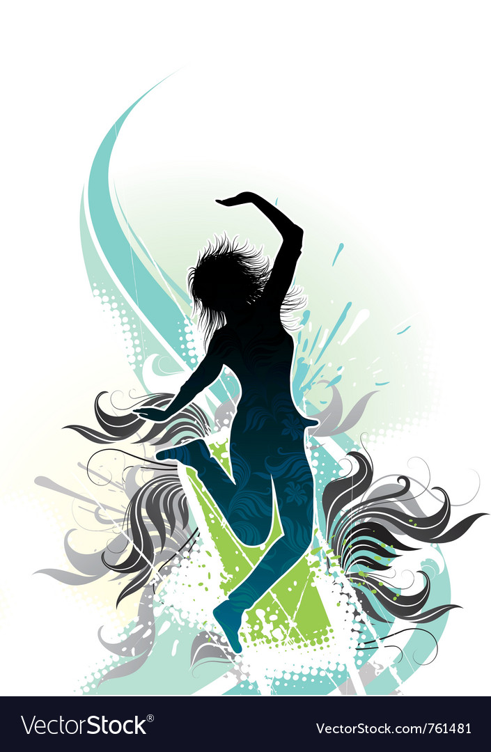 Girl in dreams vector image