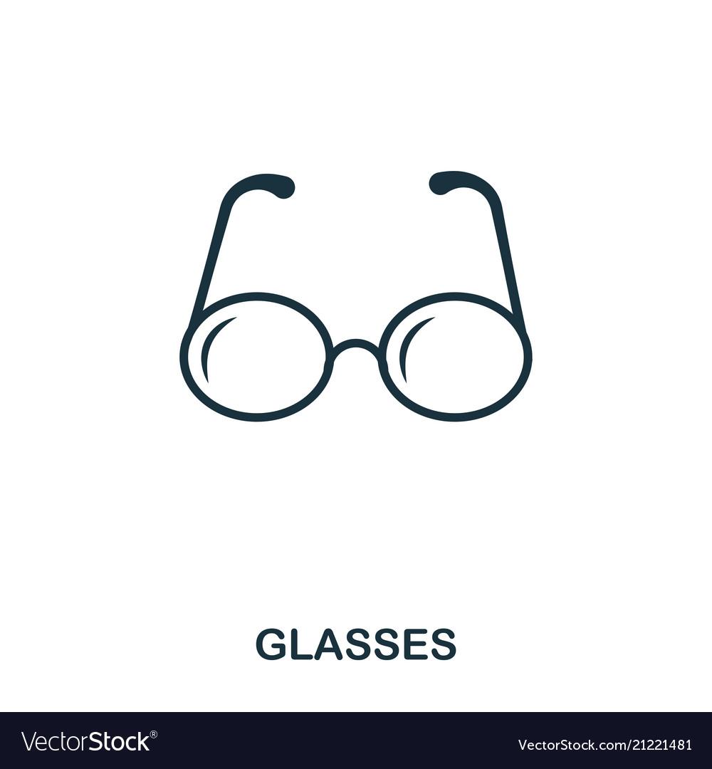 Glasses icon line style icon design ui