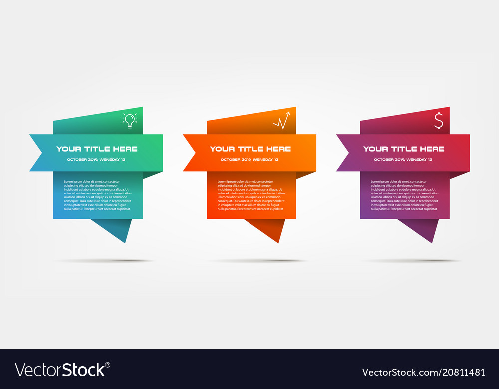 Gradient infographics step by step element of