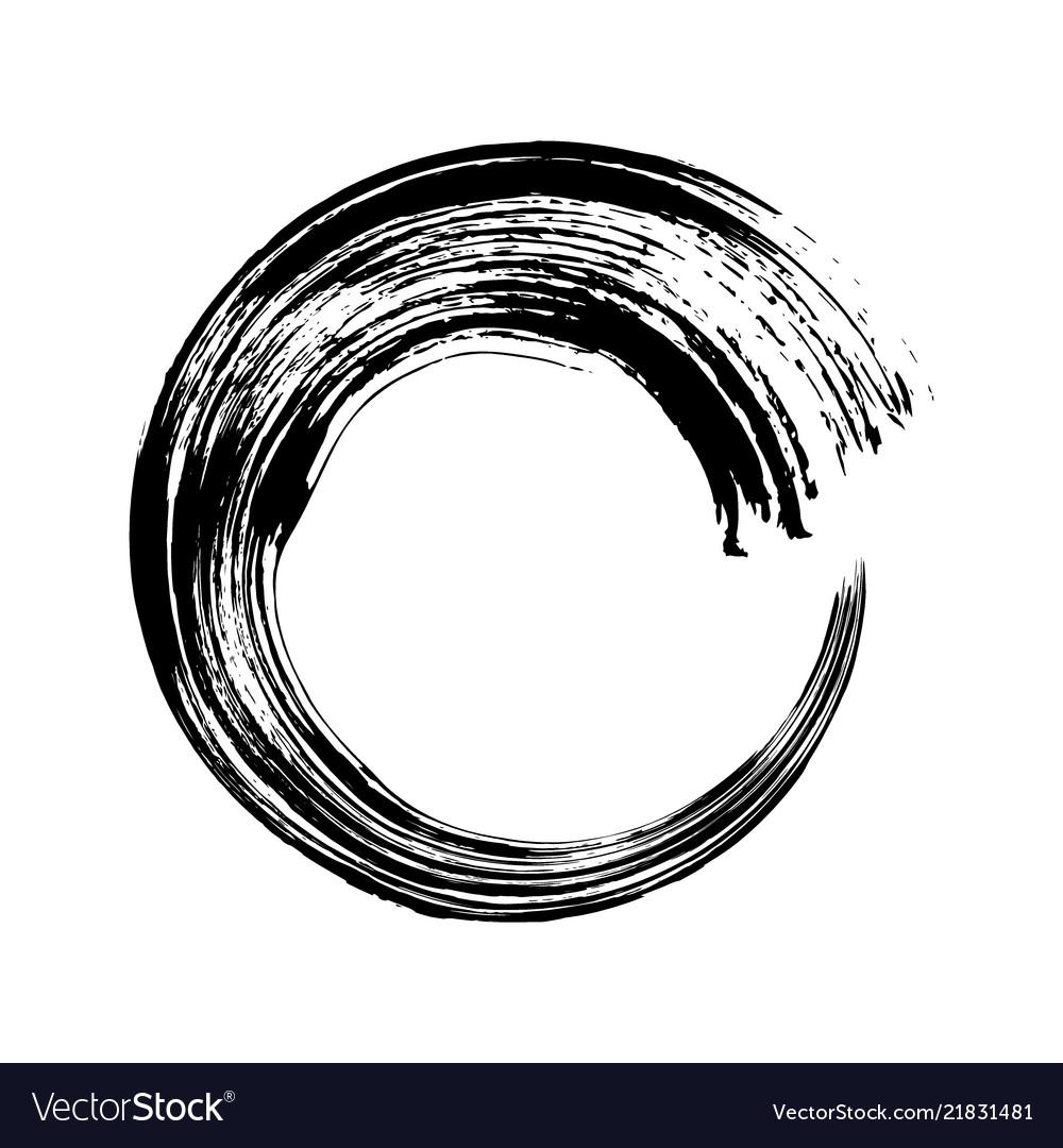Hand drawn circle black doodles scribble