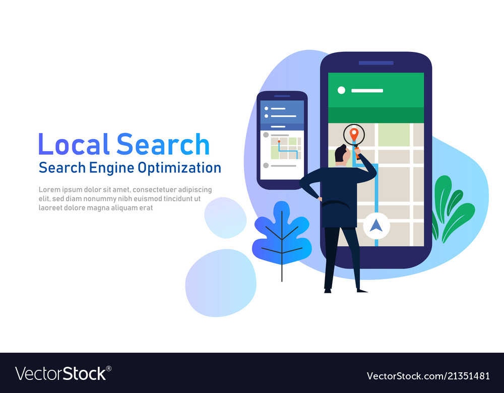 Local search marketing ecommerce concept of