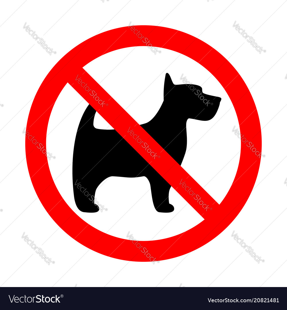 Prohibition sign stop dog simple icon label