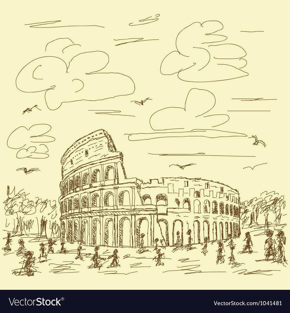 Rome colosseum vintage
