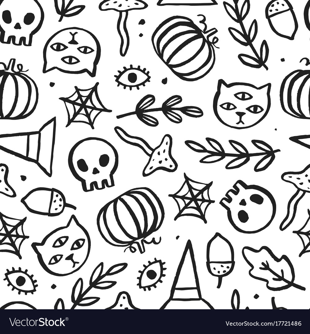 Beautiful halloween seamless pattern