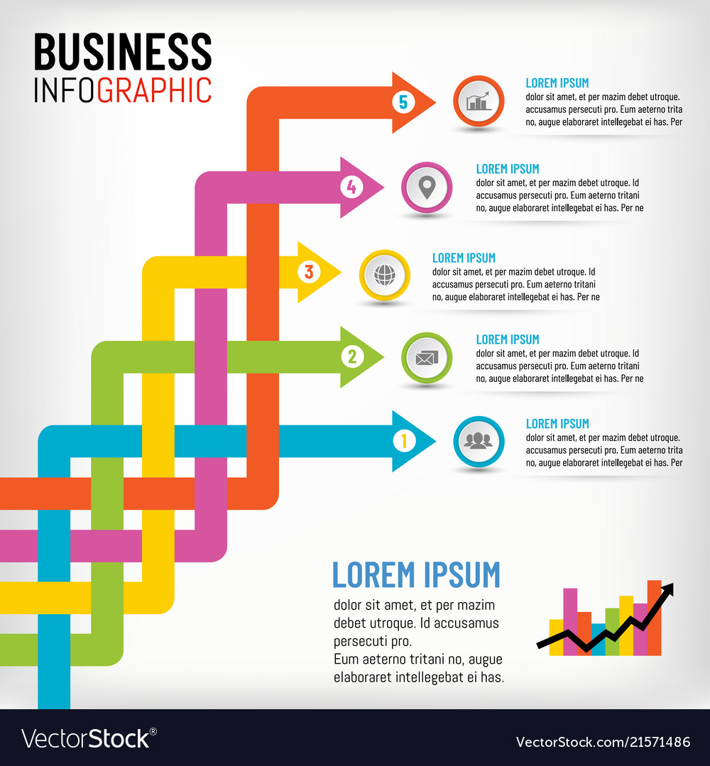 Business infographics for presentation template