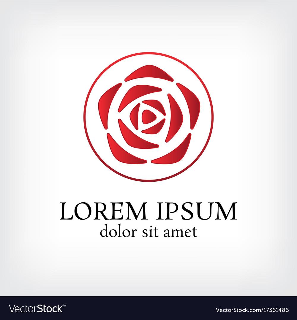 Circle with rose logo