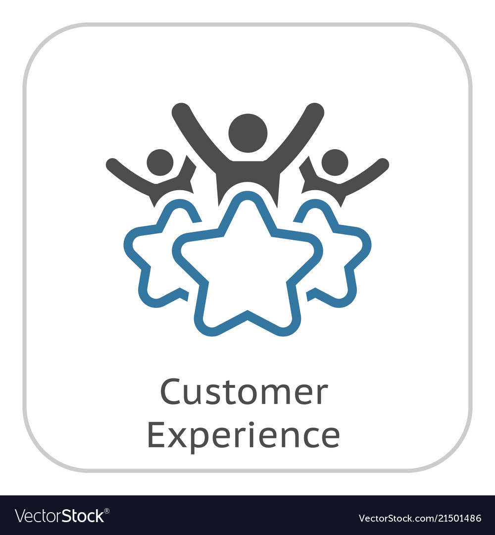 Customer Experience Line Icon Vector Image