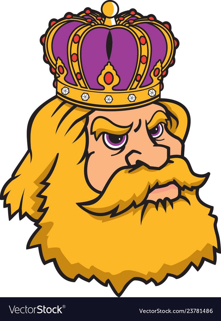 King head logo mascot