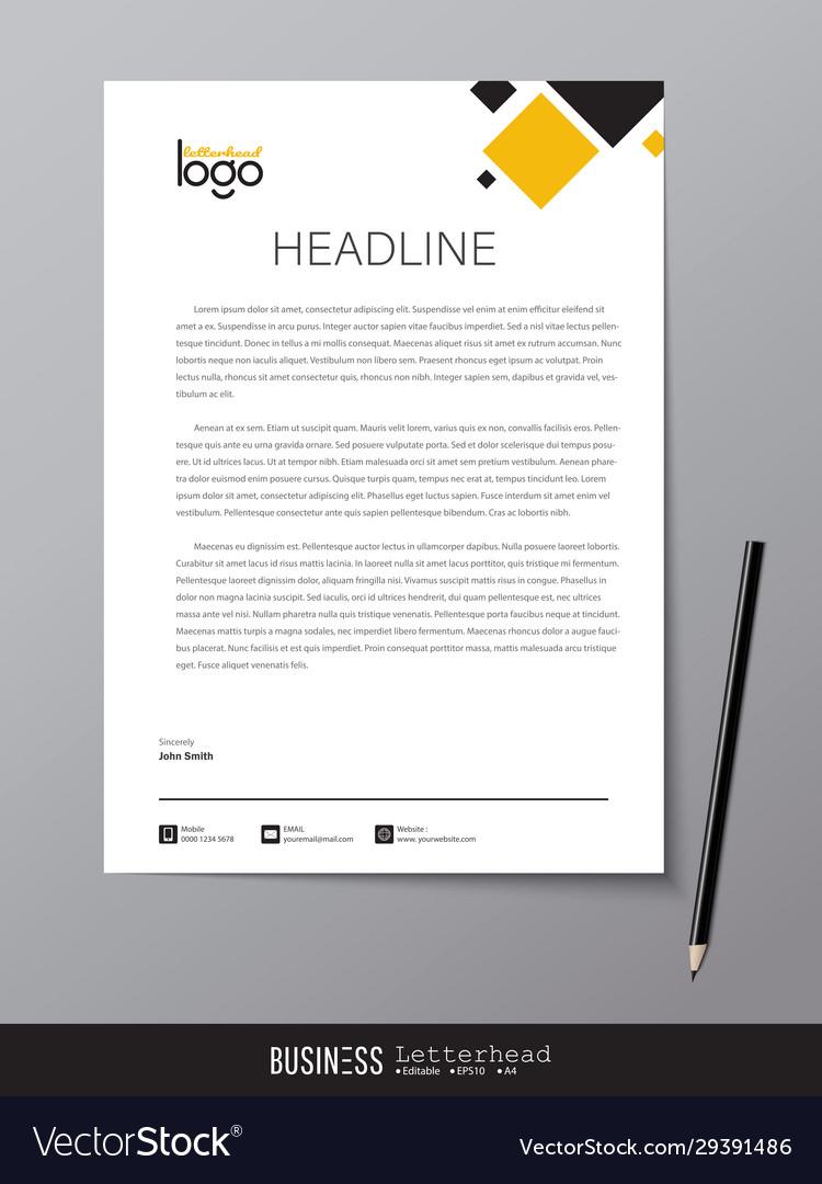 Letterhead Modern Design Template And Mockup Vector Image