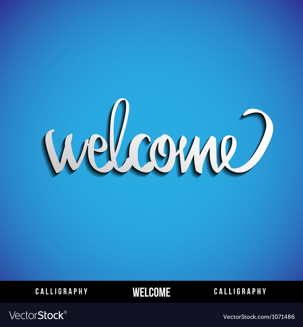 Lettering WELCOME vector image