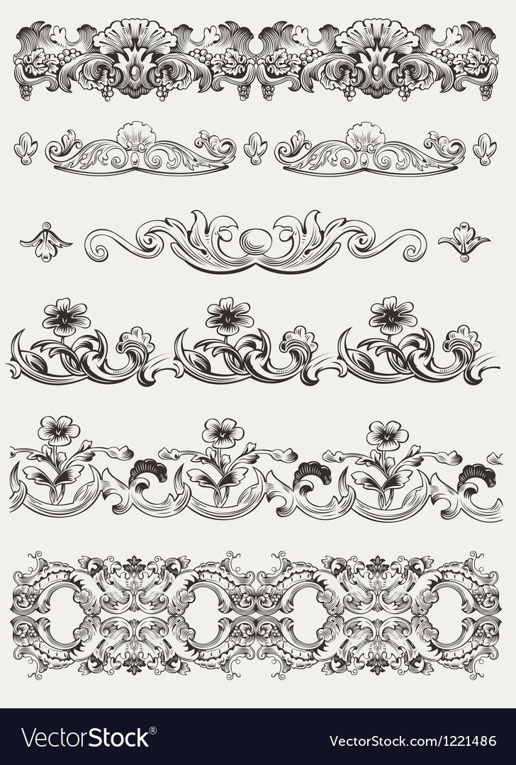 Set Of Original Vintage Calligraphic Design Elemen vector image