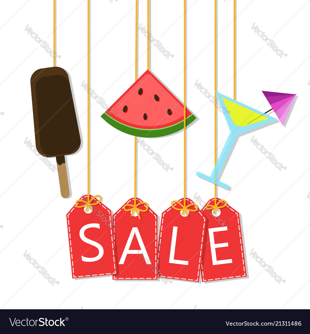 Summer sale - background with icons