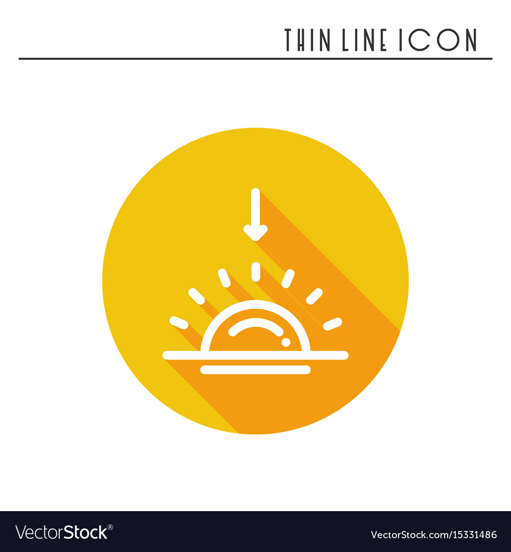 Sun line simple icon weather symbols sunrise
