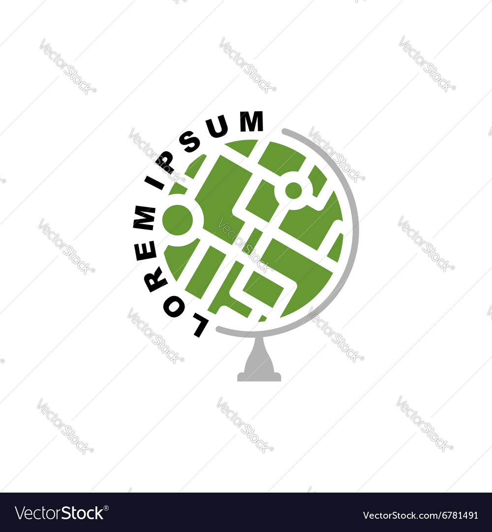 Abstract earth globe logo Logo for travel agency