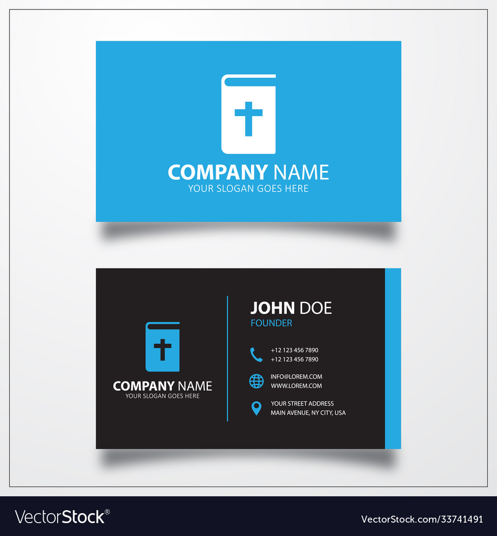Bible icon business card template