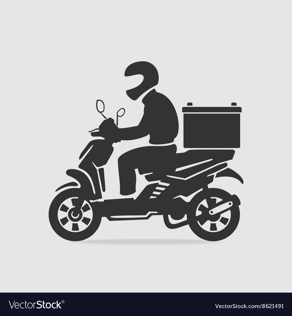 Bike food delivery Royalty Free Vector Image - VectorStock